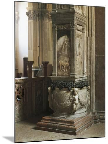 Pillar Decorated with Relief--Mounted Giclee Print