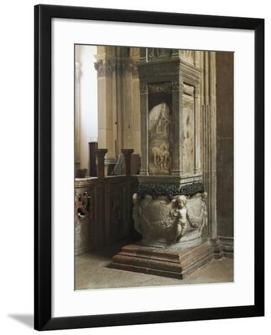 Pillar Decorated with Relief--Framed Art Print