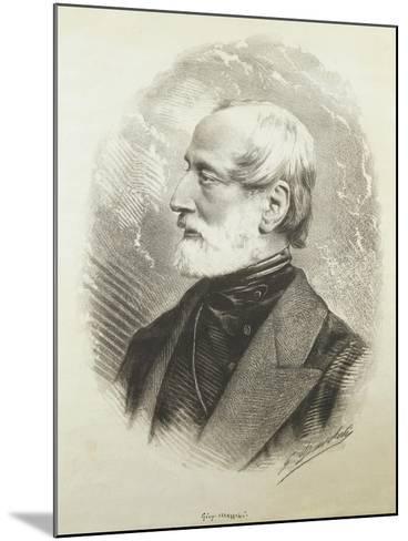 Portrait of Giuseppe Mazzini--Mounted Giclee Print