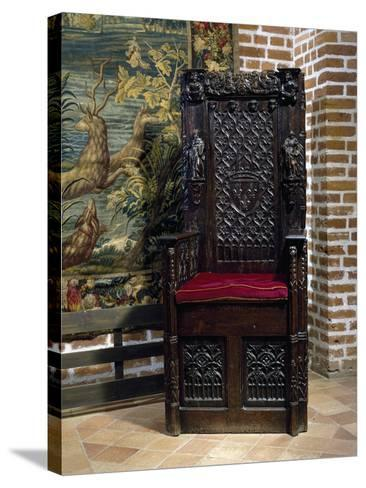 Renaissance Style Throne Chair--Stretched Canvas Print