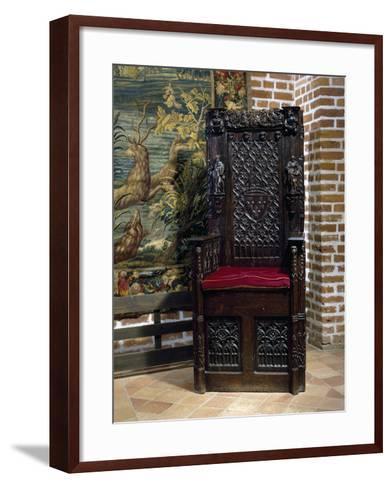 Renaissance Style Throne Chair--Framed Art Print