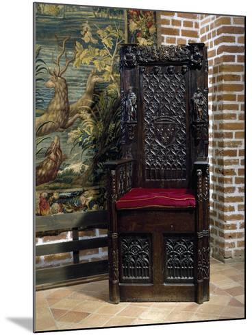 Renaissance Style Throne Chair--Mounted Giclee Print