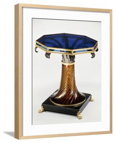 Table with Stained-Glass Top--Framed Art Print