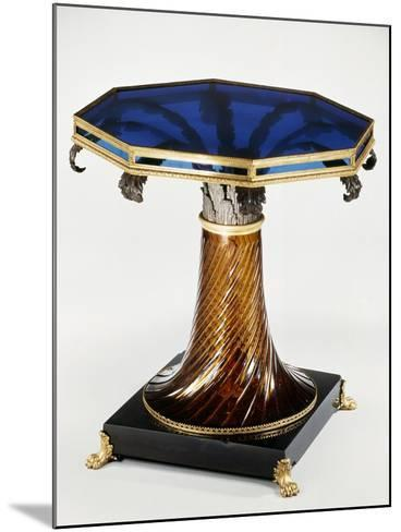 Table with Stained-Glass Top--Mounted Giclee Print