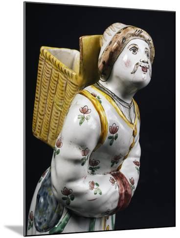 Female Figure Bearing a Basket on Her Back--Mounted Giclee Print
