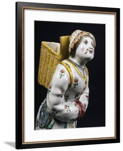 Female Figure Bearing a Basket on Her Back--Framed Art Print