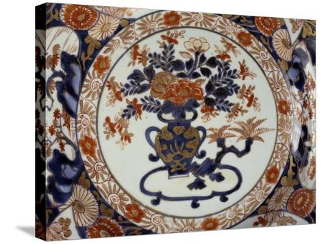 Large Plate Decorated with Floral Patterns--Stretched Canvas Print