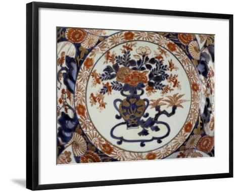 Large Plate Decorated with Floral Patterns--Framed Art Print