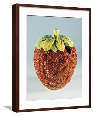 Jam Container in Shape of Raspberry--Framed Art Print