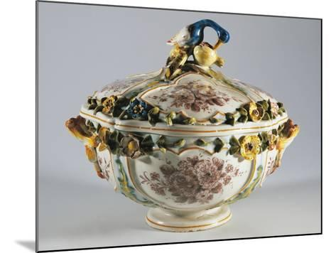 Tureen with Relief Decorations of Flowers and Bird--Mounted Giclee Print