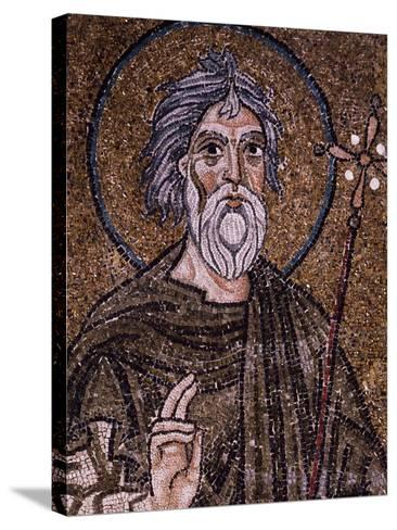 Half- Figure of Apostle Andrew Holding Up Starry Cross--Stretched Canvas Print