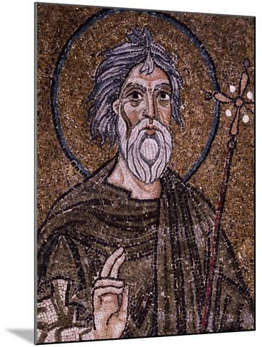 Half- Figure of Apostle Andrew Holding Up Starry Cross--Mounted Giclee Print