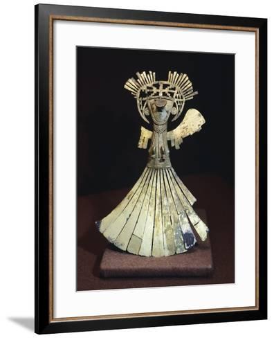 Gold Breastplate Depicting a Female Figure Ornament--Framed Art Print