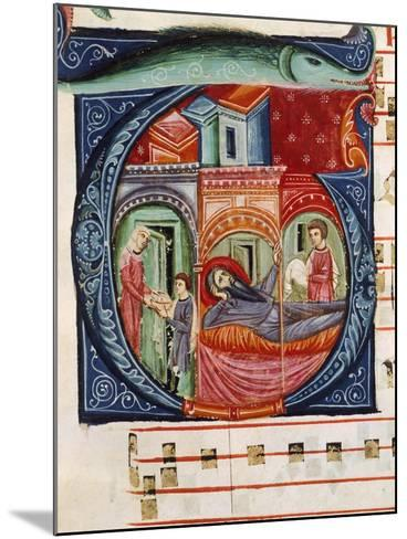 Initial Capital Letter G Depicting a Biblical Scene--Mounted Giclee Print