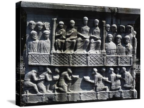 Theodosius Receiving Submission of Defeated Barbarians--Stretched Canvas Print