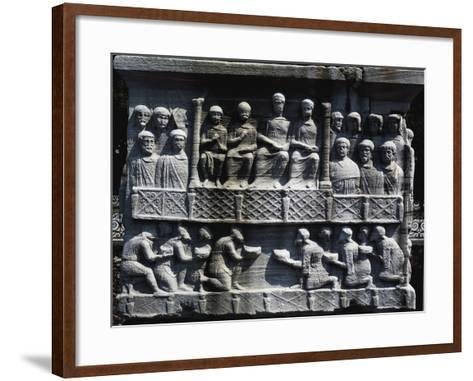 Theodosius Receiving Submission of Defeated Barbarians--Framed Art Print