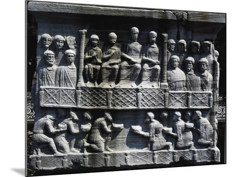 Theodosius Receiving Submission of Defeated Barbarians--Mounted Giclee Print