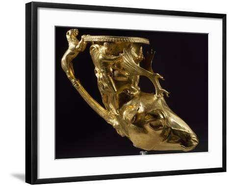 Gold Rhyton in Shape of Stag's Head with Heracles--Framed Art Print