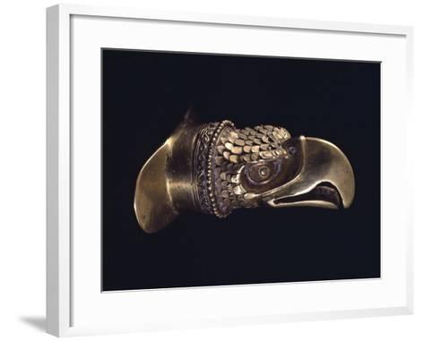 Gold Labial Ornament with the Shape of the Eagle's Head--Framed Art Print