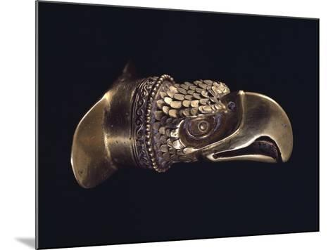 Gold Labial Ornament with the Shape of the Eagle's Head--Mounted Giclee Print
