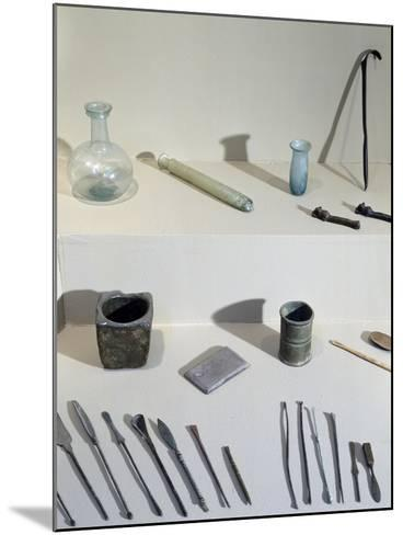 Surgical and Cosmetic Instruments: Diocles' Scraper at Top Right--Mounted Giclee Print