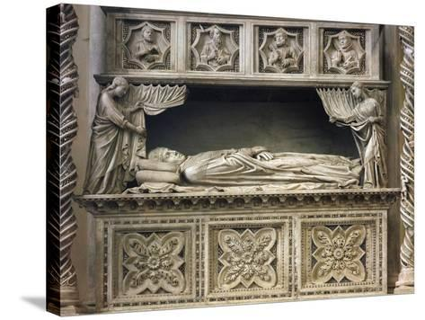 Marble Sepulchral Monument of Pope Benedict XI--Stretched Canvas Print