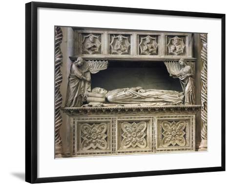 Marble Sepulchral Monument of Pope Benedict XI--Framed Art Print