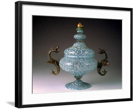 Sugar Bowl with Murino Glassworks Body in Crystal Glass--Framed Art Print
