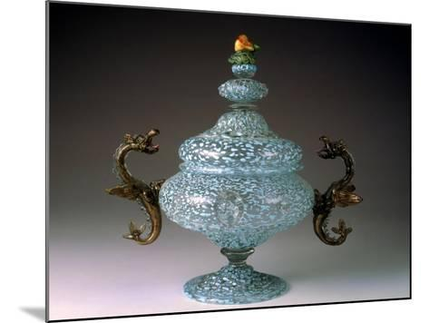 Sugar Bowl with Murino Glassworks Body in Crystal Glass--Mounted Giclee Print