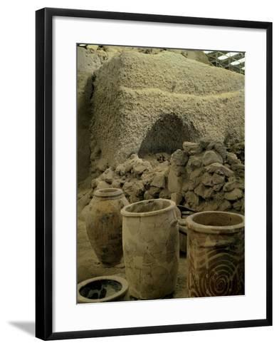 Jars Unearthed at the Archaeological Site of Akrotiri on Thera--Framed Art Print