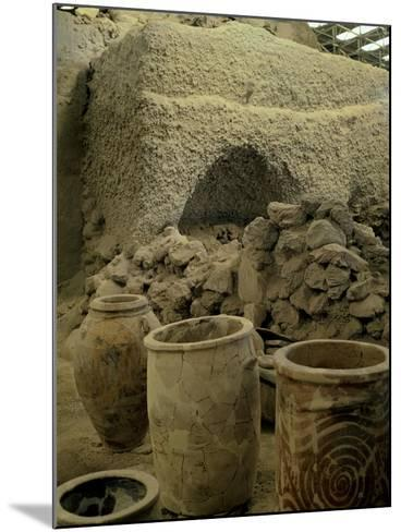 Jars Unearthed at the Archaeological Site of Akrotiri on Thera--Mounted Giclee Print