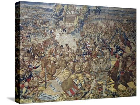 French Encampment Being Invaded by Imperial Troops--Stretched Canvas Print