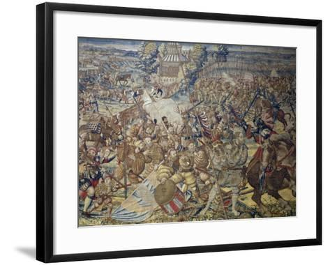 French Encampment Being Invaded by Imperial Troops--Framed Art Print