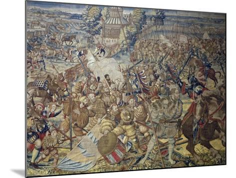 French Encampment Being Invaded by Imperial Troops--Mounted Giclee Print