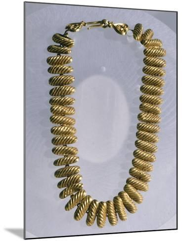 Gold Necklace Made Up of 42 Semi-Cylindrical Elements--Mounted Giclee Print