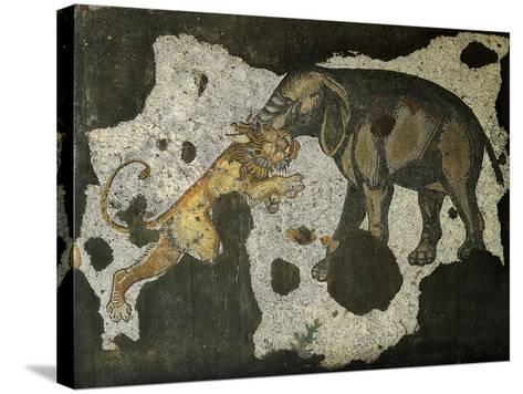 Mosaic Depicting an Elephant Killing a Beast--Stretched Canvas Print