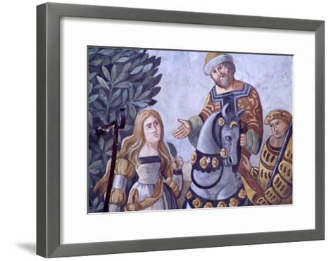 Painted Decoration from Zum Weissen Adler House--Framed Art Print