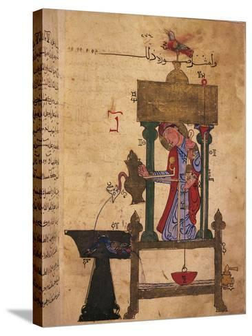 Miniature Depicting an Automaton Drawing Water Off--Stretched Canvas Print