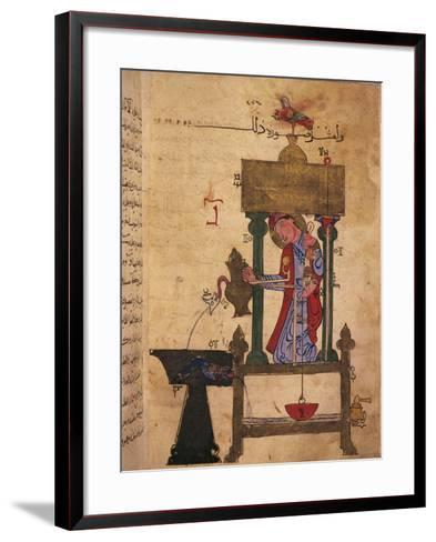 Miniature Depicting an Automaton Drawing Water Off--Framed Art Print