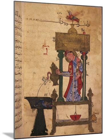 Miniature Depicting an Automaton Drawing Water Off--Mounted Giclee Print
