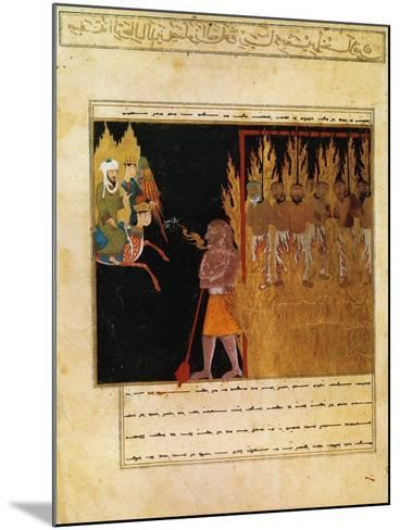 Muhammad Descends into Hell with the Angel Gabriel--Mounted Giclee Print