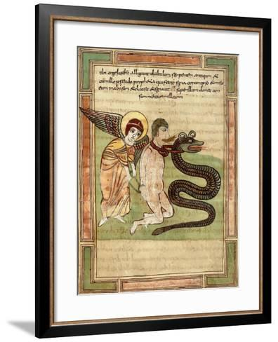 The Angel Captures the Dragon and Satan for 100 Years--Framed Art Print