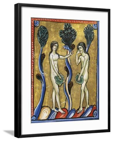 The Book of Genesis: the Original Sin of Adam and Eve--Framed Art Print