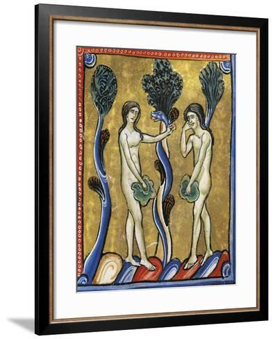 The Book of Genesis: the Original Sin of Adam and Eve--Framed Art Print