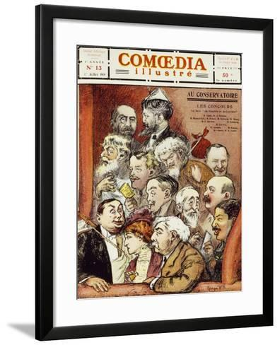 The Jury for Competition at the Conservatory--Framed Art Print