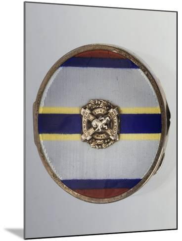 Silver and Enamel Compact Powder Case with Symbol of London Scottish Regiment--Mounted Giclee Print