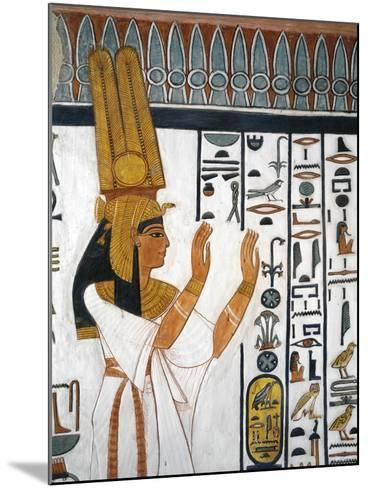 Tomb of Nefertari, Mural Painting of Queen Reciting Mortuary Formula in Burial Chamber--Mounted Giclee Print