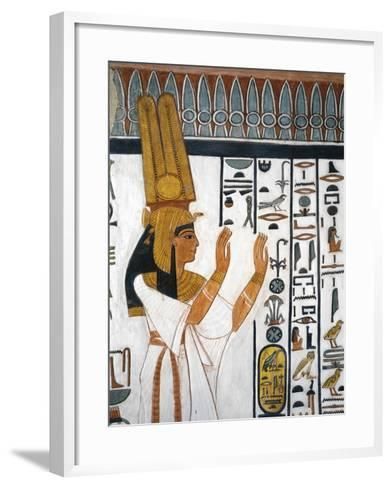 Tomb of Nefertari, Mural Painting of Queen Reciting Mortuary Formula in Burial Chamber--Framed Art Print