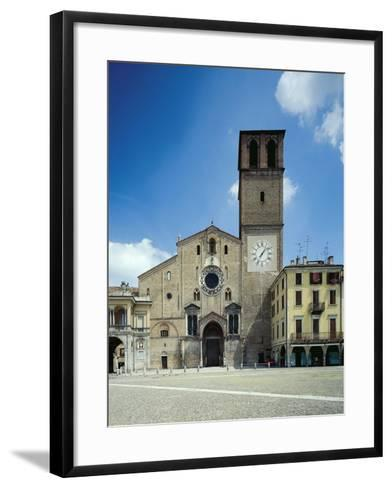 View of the Facade of the Cathedral Basilica of the Assumption of the Blessed Virgin Mary--Framed Art Print