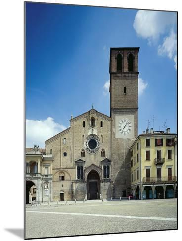 View of the Facade of the Cathedral Basilica of the Assumption of the Blessed Virgin Mary--Mounted Giclee Print